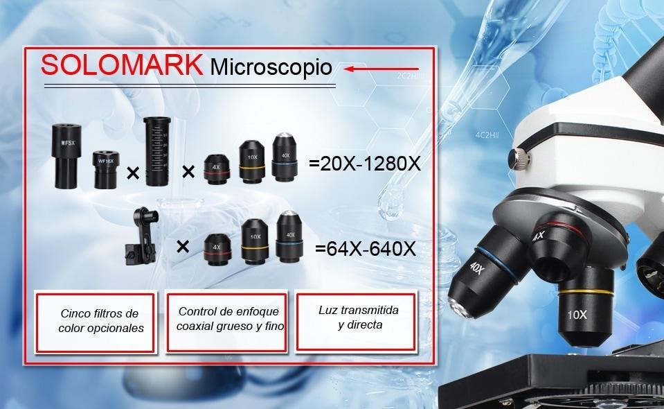 Características microscopio Solomark